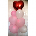 BB0009-Hearts Balloons