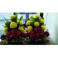 QF0022-altar side flower arrangement
