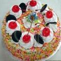 OC0184V-Vegetarian Eggless Colorful Rice Birthday Cake