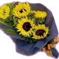 QF0028-Sunflower Hand Bouquet