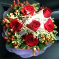 QF0516-rose hand bouquet