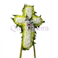 QF0545-funeral flower cross wreath