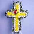 QF0591-singapore cross wreath funeral flower stand