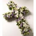 cross wreath funeral flowerstand