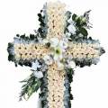 QF0881-singapore cross wreath funeral flower stand