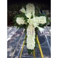 QF1005-cross funeral flowers stand