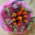 QF1137-Tulip Hand Bouquet