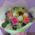 QF1145-Mixed Coloured Roses Bouquet