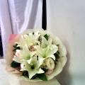 ae3e3a1a6b QF1188-white lilies hand bouquet