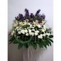 QF1217 white pom lilies purple