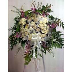 QF1227-white purple flower