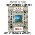 B31-40-tiger funeral blanket funeral comforter