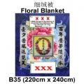 B35-62-floral funeral blanket funeral comforter